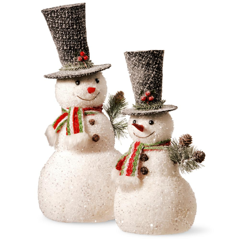 National tree company 14 in and 18 in snowman set rac for Home hardware outdoor christmas decorations