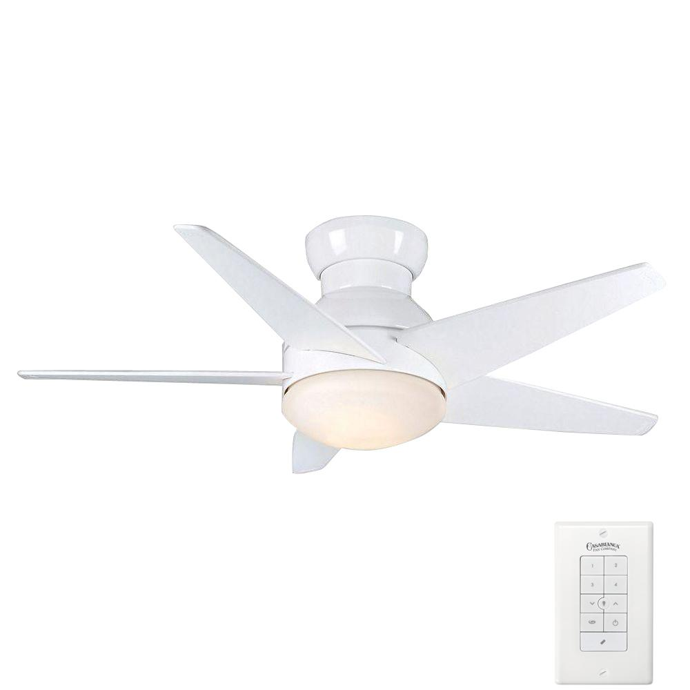 Casablanca Isotope 44 in. Indoor Snow White Ceiling Fan with Light