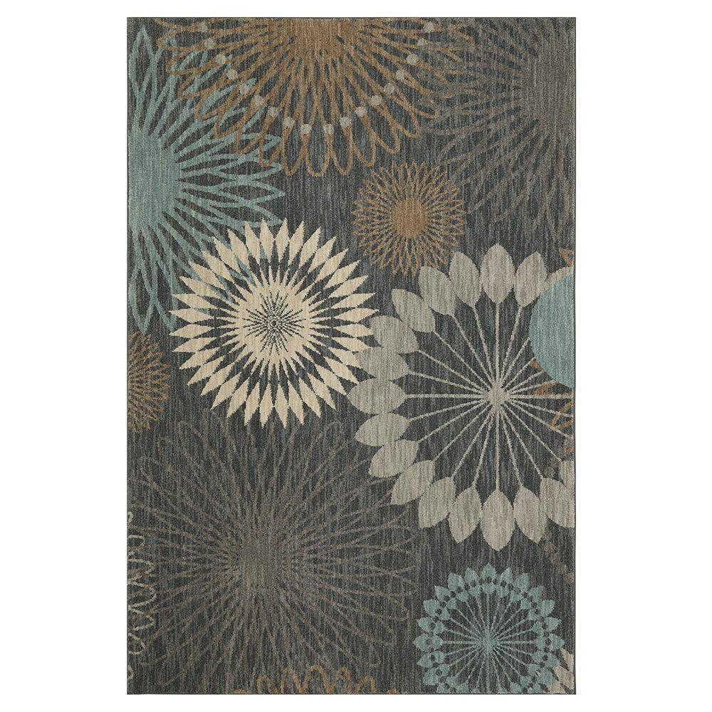 Karastan Canon Abyss Blue 8 ft. x 11 ft. Area Rug-000583