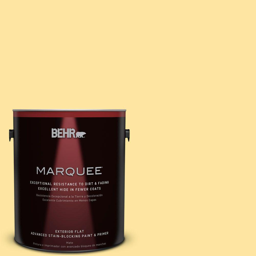 BEHR MARQUEE 1-gal. #PMD-10 Equator Glow Flat Exterior Paint