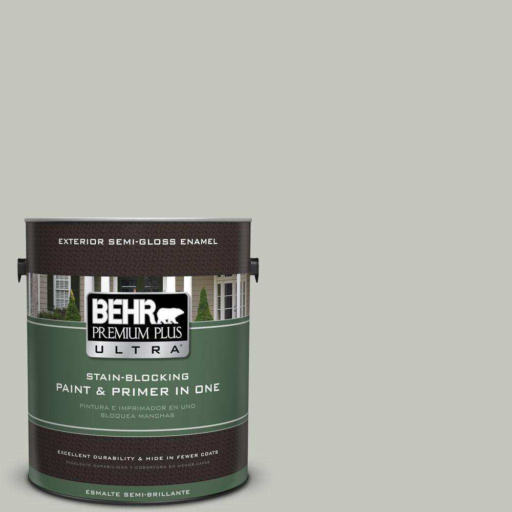 BEHR Premium Plus Ultra 1-gal. #PPF-29 Traditional Gray Semi-Gloss Enamel Exterior Paint