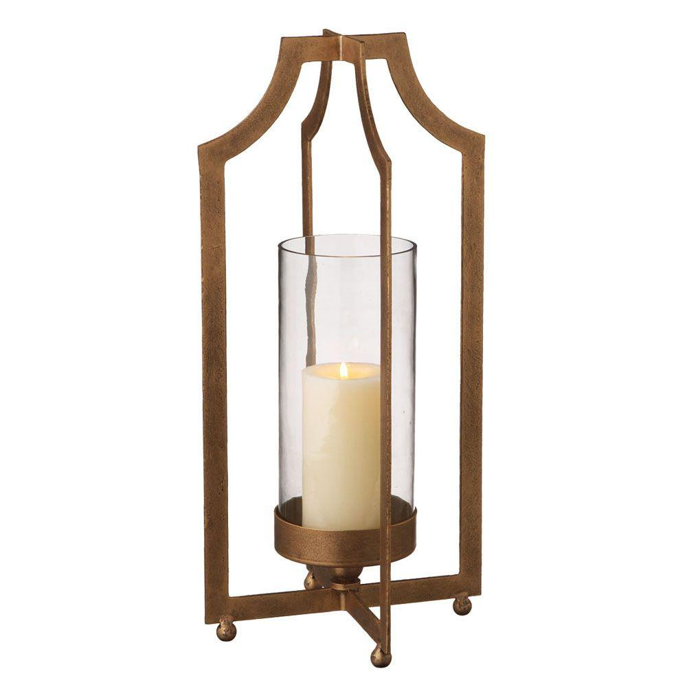 Filament Design Sundry 20 in. Gold Pillar Candle Holder-DISCONTINUED