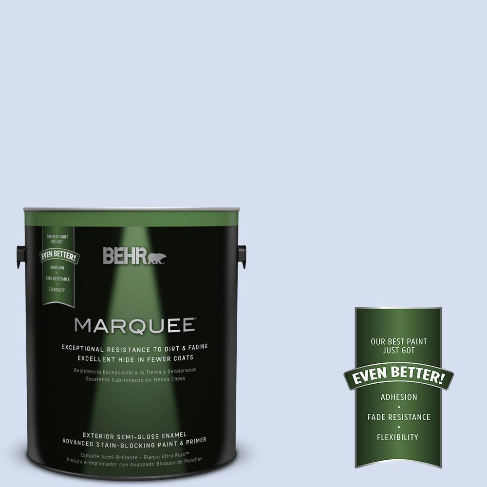 BEHR MARQUEE 1-gal. #610C-1 Northern Star Semi-Gloss Enamel Exterior Paint
