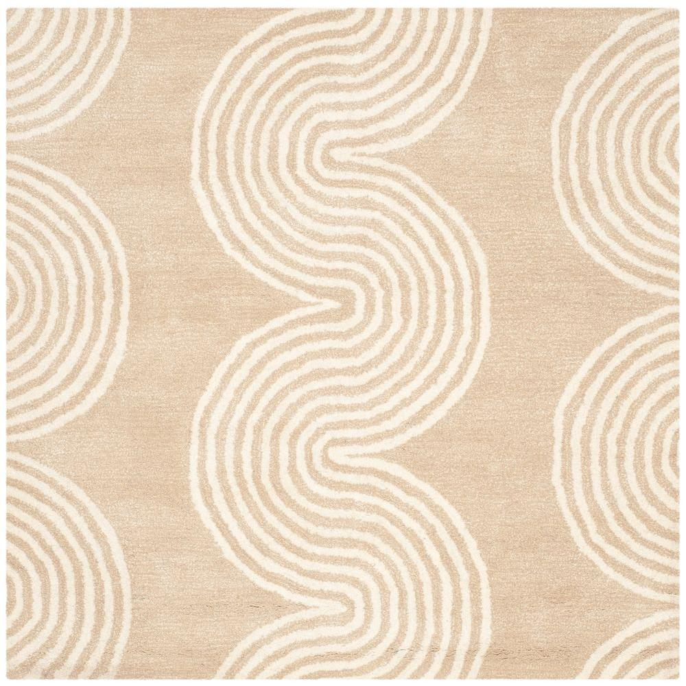 Chatham Beige/Ivory 5 ft. x 5 ft. Square Area Rug