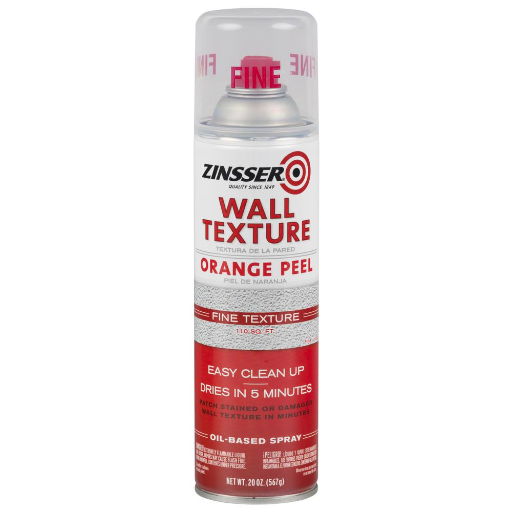 Zinsser 20 Oz Wall Texture Fine Oil Based Orange Peel Spray Paint 6 Pack 202129 The Home Depot