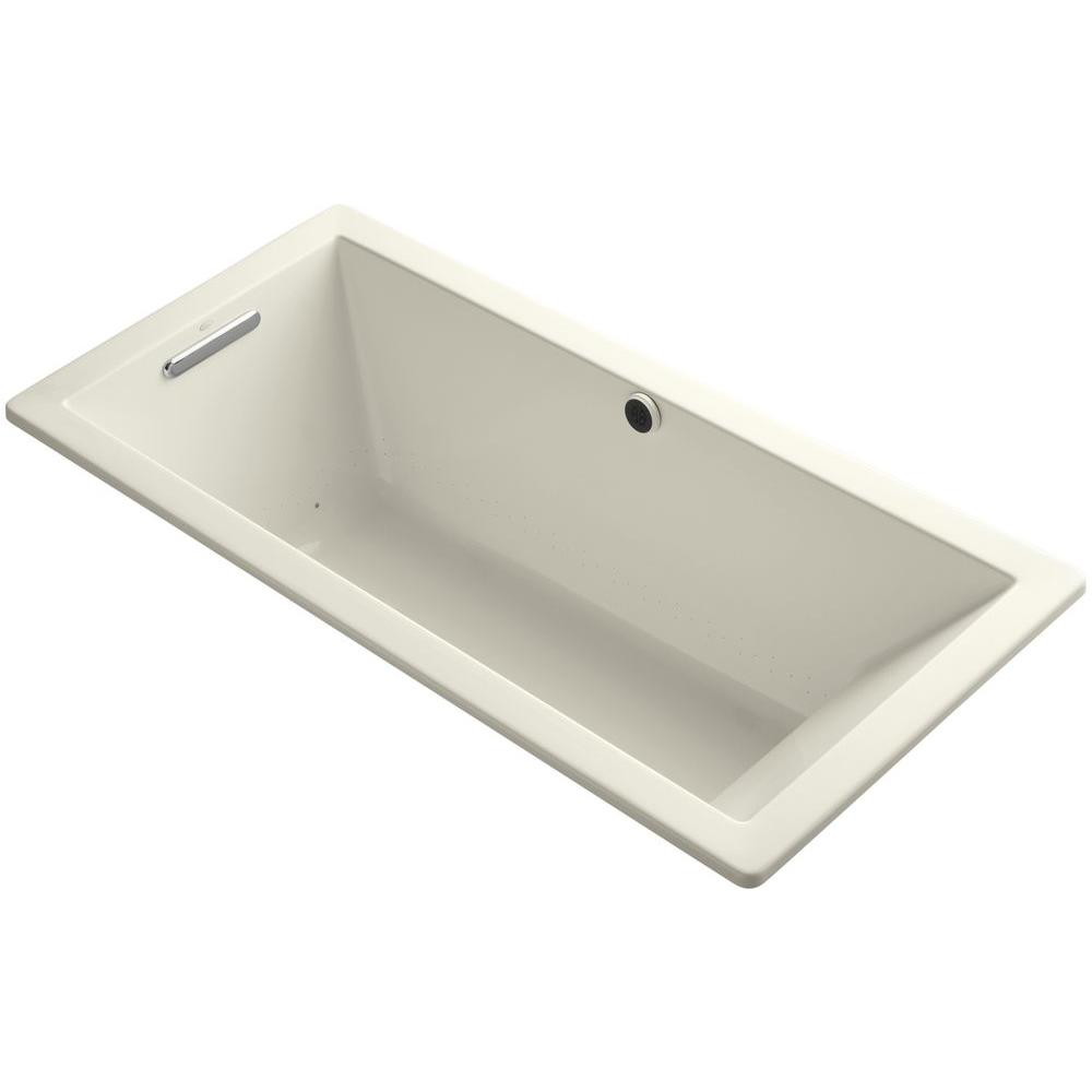 Underscore 5.5 ft. Air Bath Tub in Biscuit