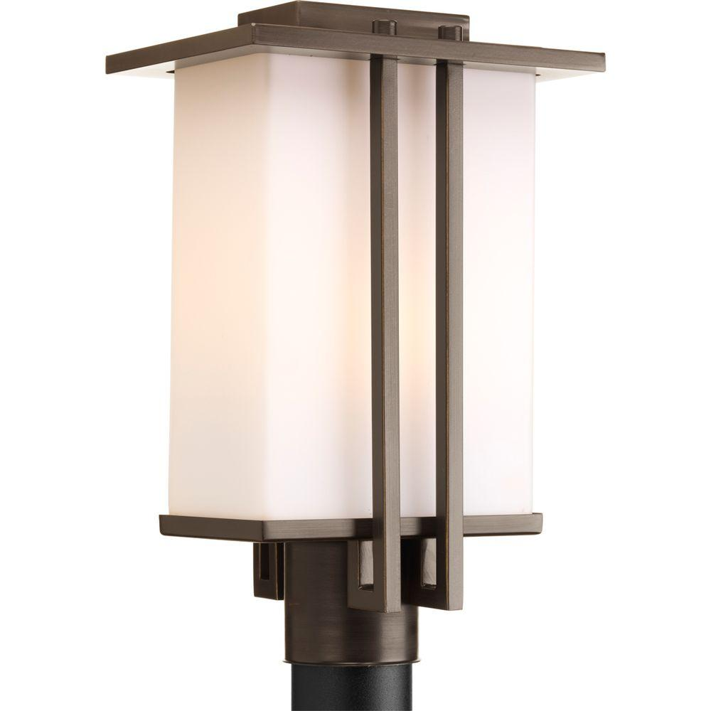 Dibs Collection 1-Light Antique Bronze Outdoor Post Lantern