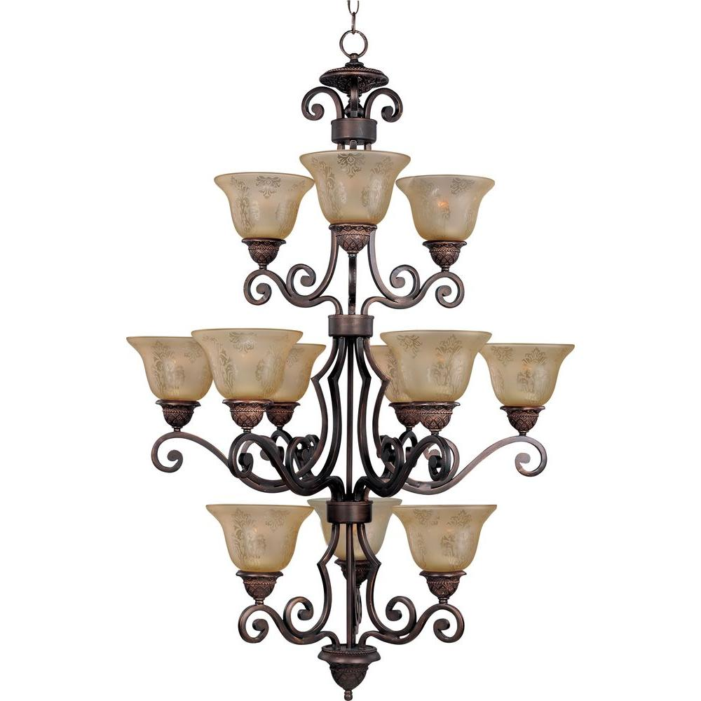 Maxim Lighting Symphony 12-Light Oil-Rubbed Bronze Chandelier-11238SAOI - The