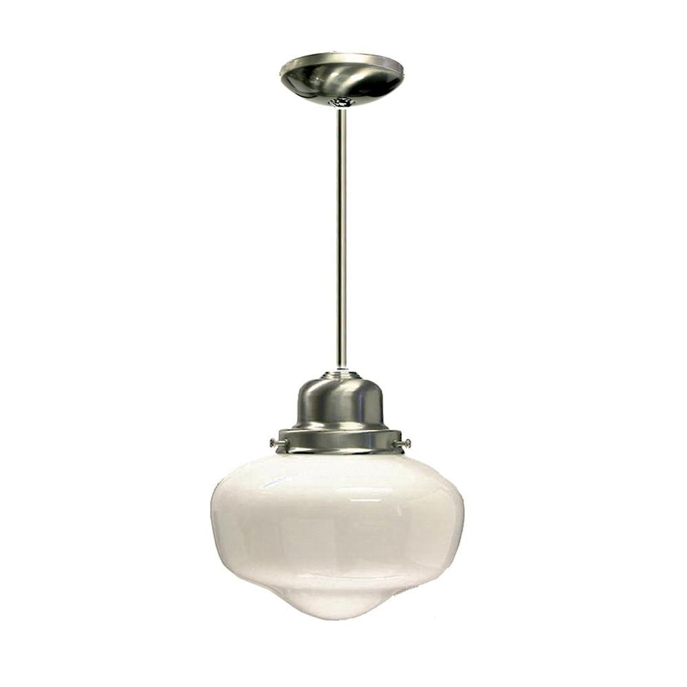 Marquis Lighting 1-Light Satin Chrome Pendant