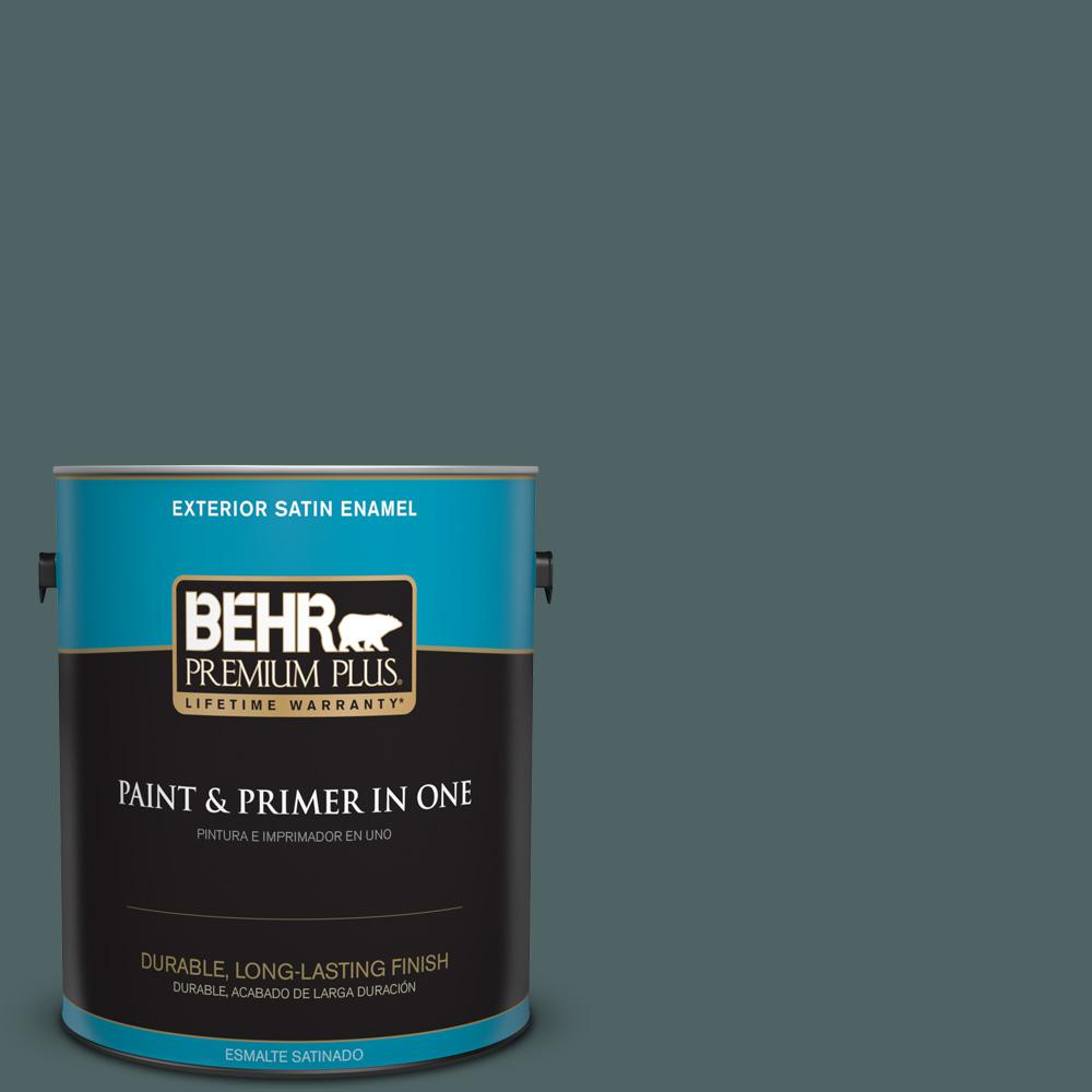 1 gal. #PPU12-20 Underwater Color Satin Enamel Exterior Paint