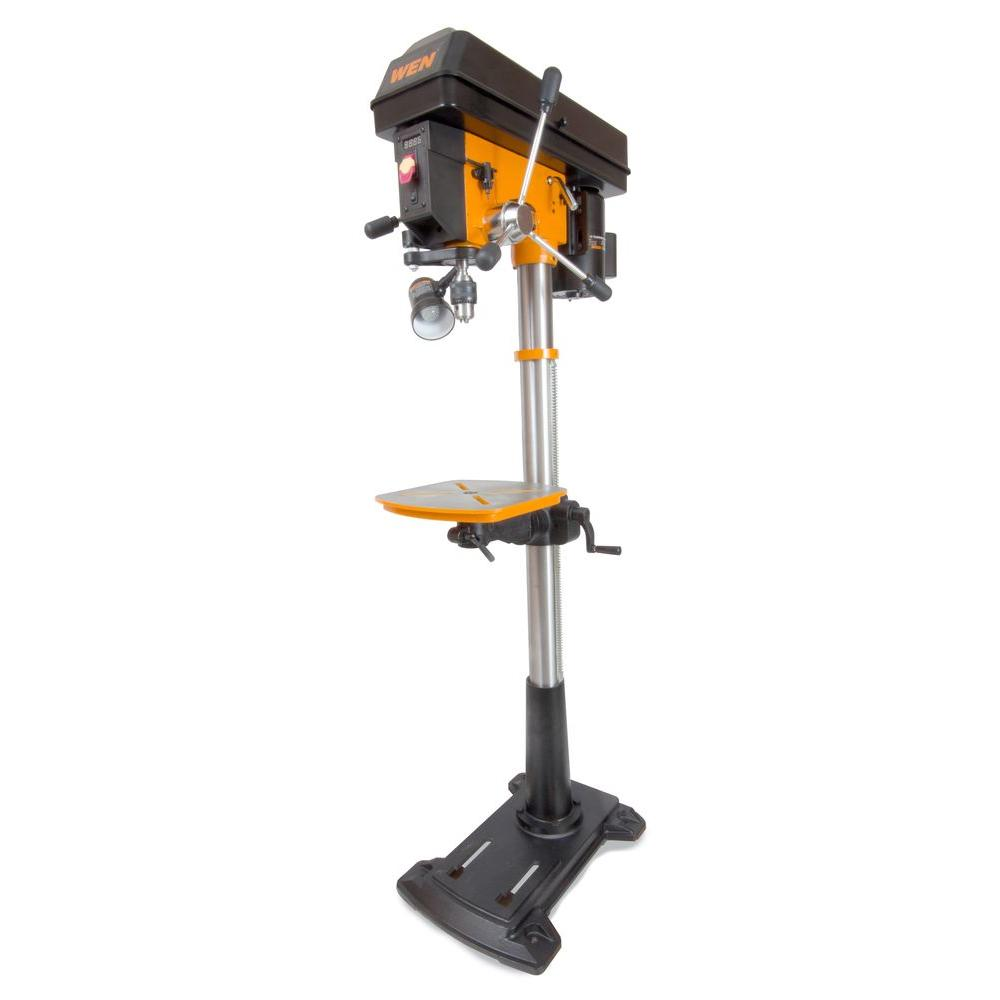 wen 8.6 amp 15 in. floor standing drill press with variable speed
