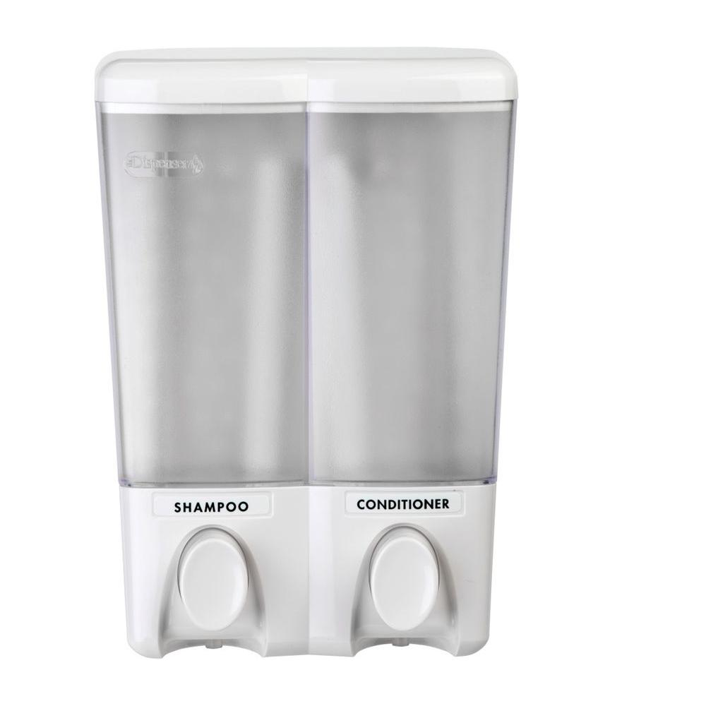 null Clear Choice Double Dispenser in White