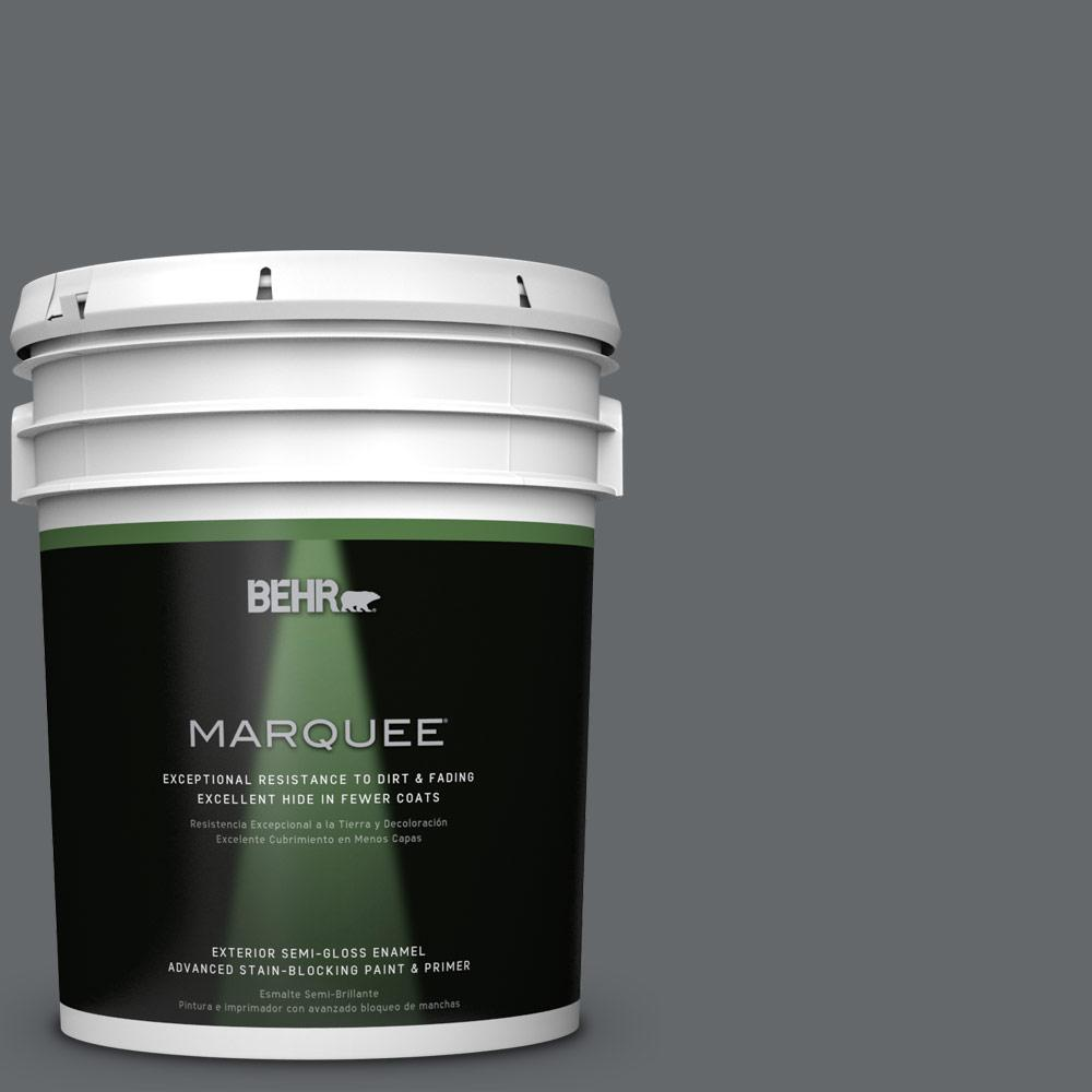 BEHR MARQUEE 5 gal. #PPU26-02 Imperial Gray Semi-Gloss Enamel Exterior