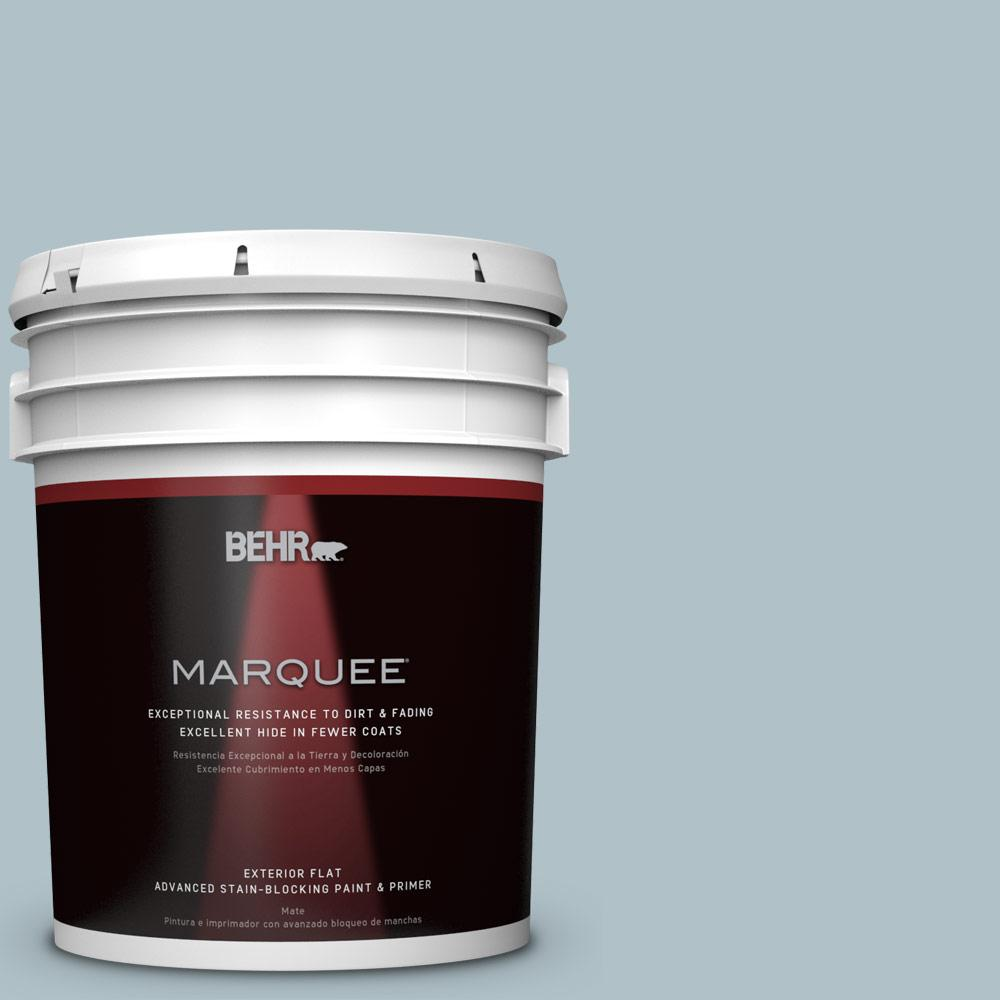 BEHR MARQUEE 5-gal. #PPU13-14 Ozone Flat Exterior Paint-445005 - The Home