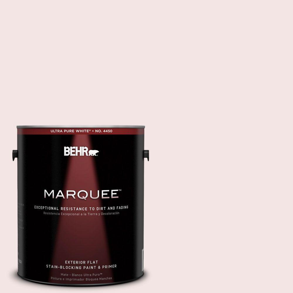 BEHR MARQUEE 1-gal. #170E-1 Reverie Pink Flat Exterior Paint-445001 - The