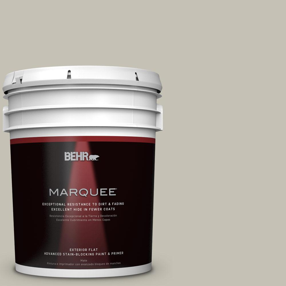 BEHR MARQUEE 5-gal. #BNC-04 Comforting Gray Flat Exterior Paint-445005 - The