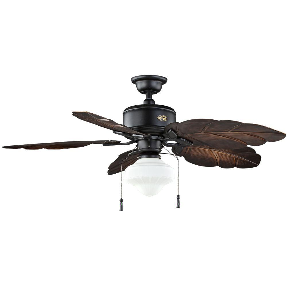 Nassau 52 in. Natural Iron Indoor/Outdoor Ceiling Fan