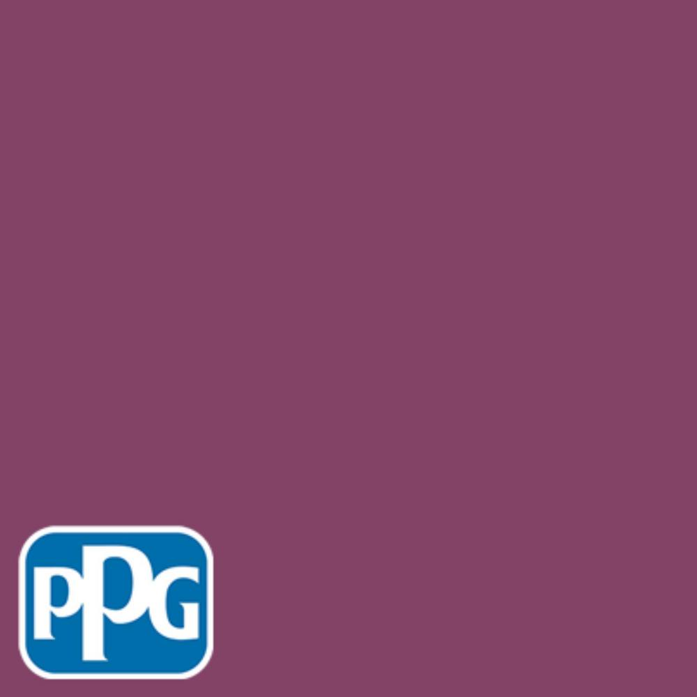8 oz. #HDPPGR08 Bright Black Raspberry Flat Interior/Exterior Paint Sample
