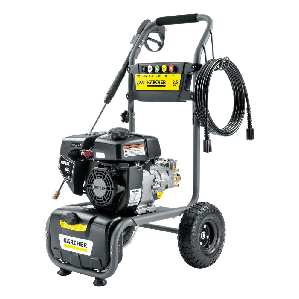 gk psi gpm gas pressure washer powered by kohler