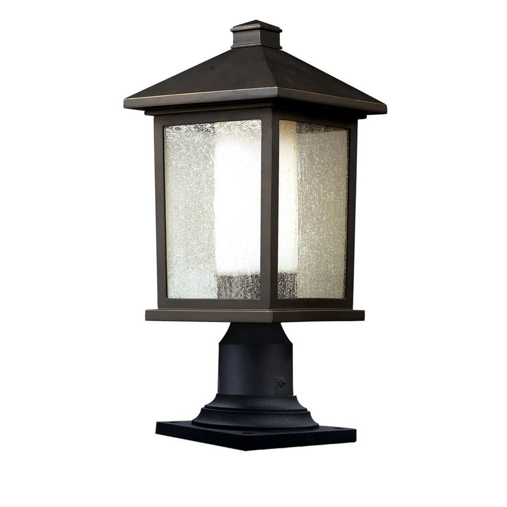 Lawrence 1-Light Outdoor Oil Rubbed Bronze Incandescent Post Light