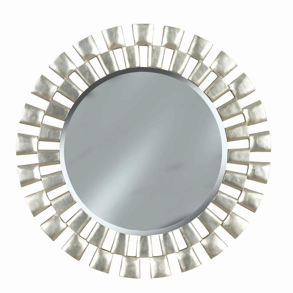 Manor brook landon 36 in round polyurethane framed mirror for Round mirror