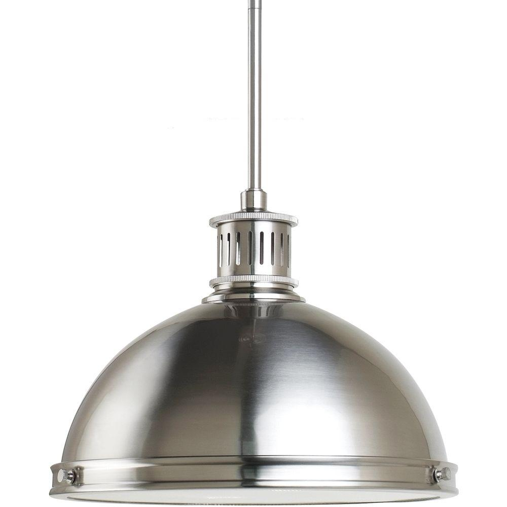 Sea Gull Lighting Pratt Street Metal 2-Light Brushed Nickel Pendant