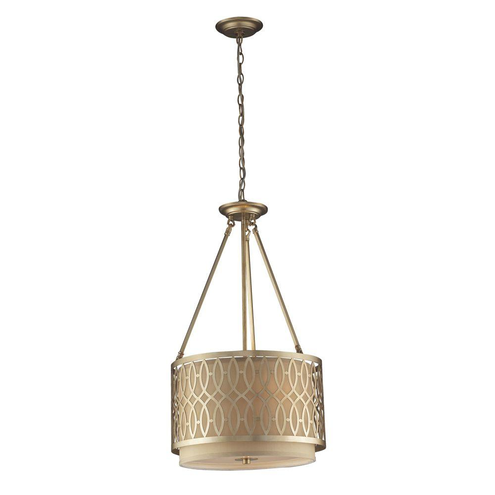 Titan Lighting 3-Light Aged Silver Ceiling Pendant-DISCONTINUED