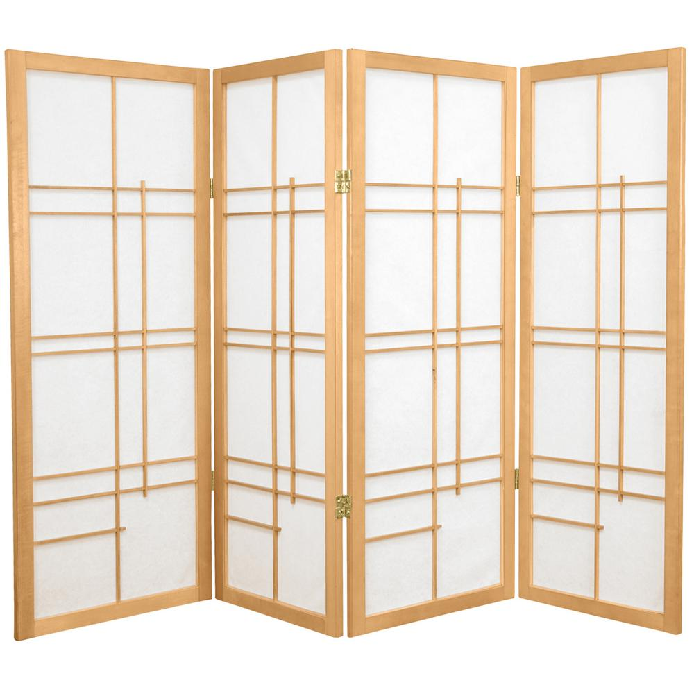 Null 4 Ft Natural 4 Panel Room Divider