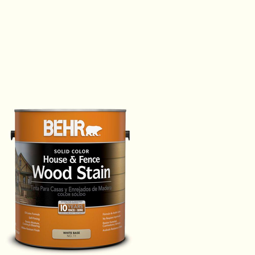 BEHR 1-gal. #SC-337 Pinto White Solid Color House and Fence Wood Stain