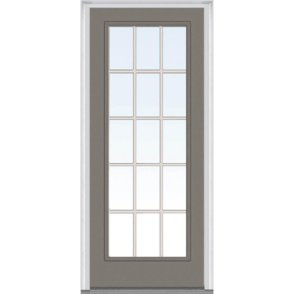 Milliken Millwork 36 in. x 80 in. Classic Clear Glass GBG