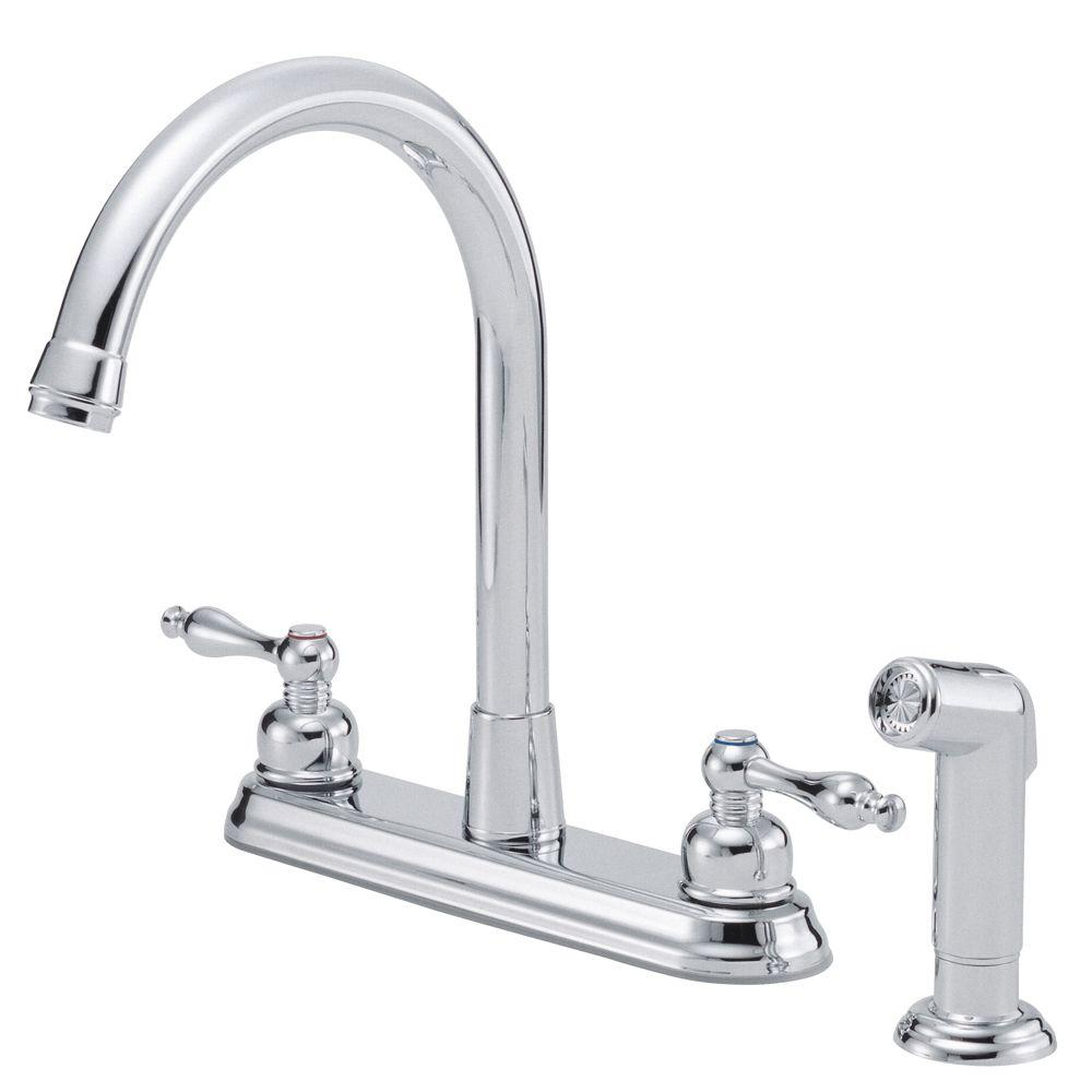 Danze Sheridan 2-Handle Kitchen Faucet with Sprayer in Chrome