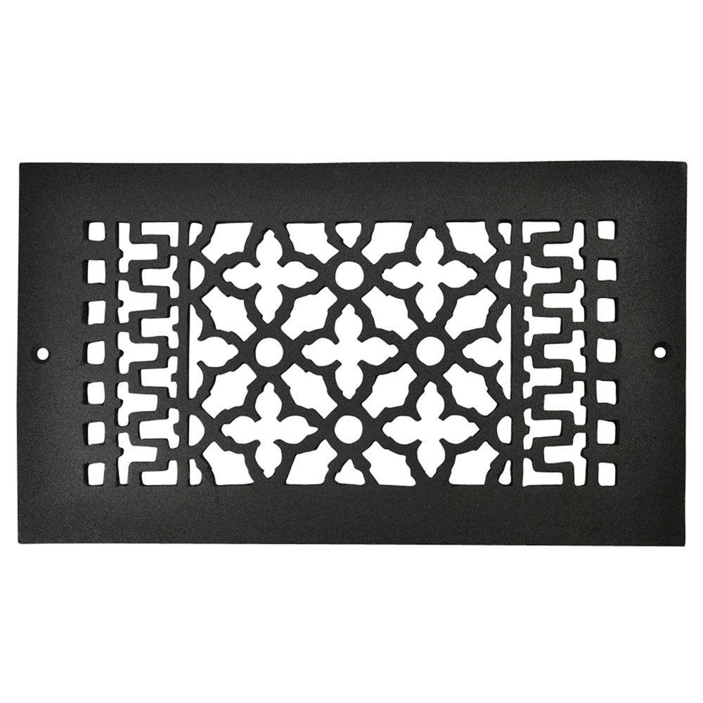 Copper Mountain Hardware 12 in. x 6 in. Cast Iron Grille