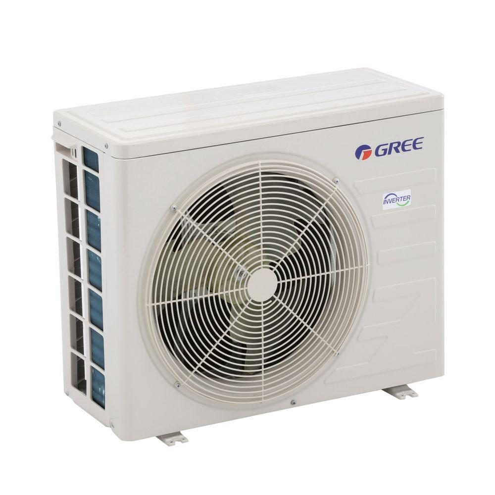 GREE High Efficiency 12,000 BTU 1 Ton Ductless Mini Split Air Conditioner with Heat, Inverter and Remote - 208-230V/60Hz