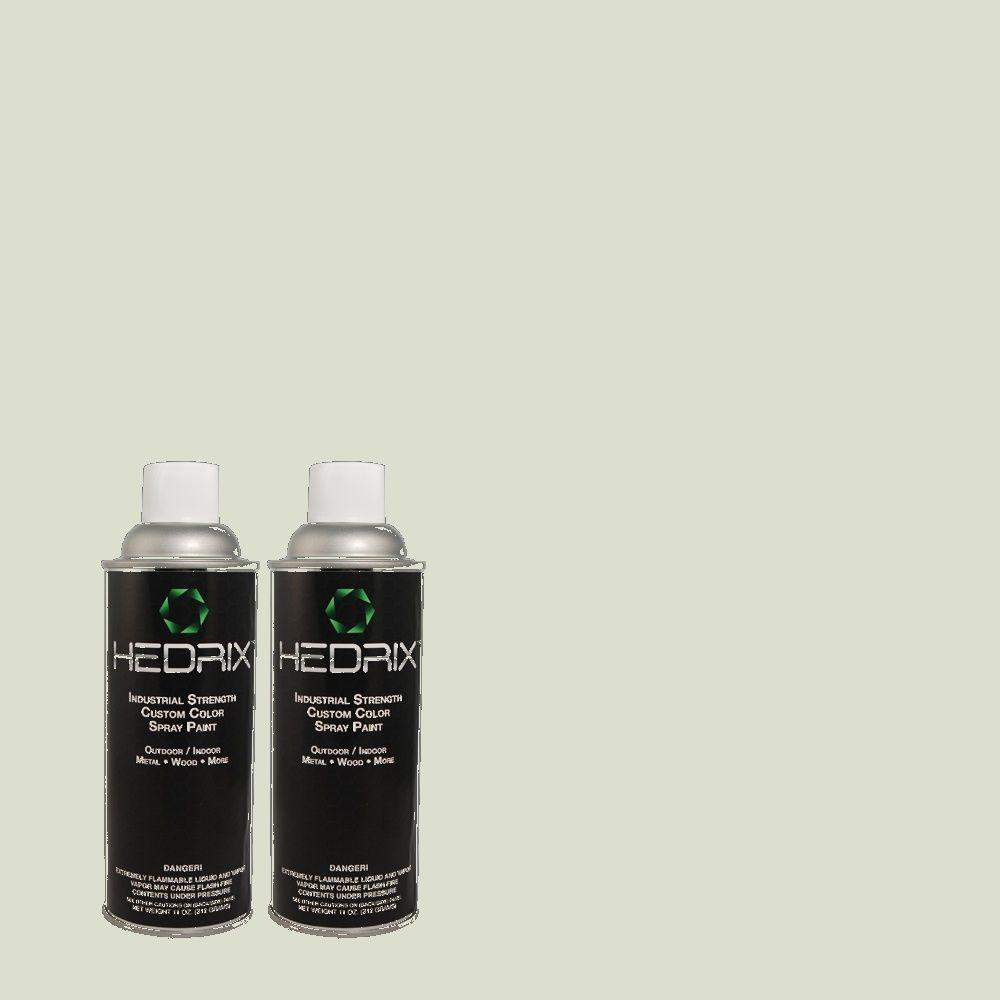 Hedrix 11 oz. Match of ICC-95 Soothing Celadon Semi-Gloss Custom Spray Paint (2-Pack)