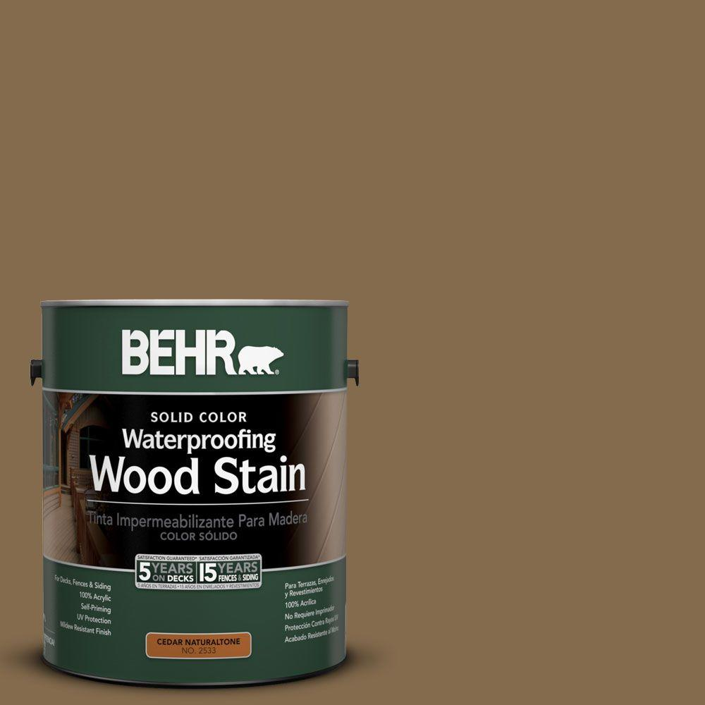 BEHR 1-gal. #SC-147 Castle Gray Solid Color Waterproofing Wood Stain