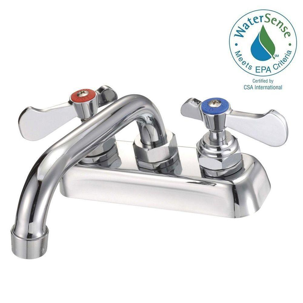 Binford Commercial 2-Handle Kitchen Faucet in Chrome-BIF40103105 - The ...