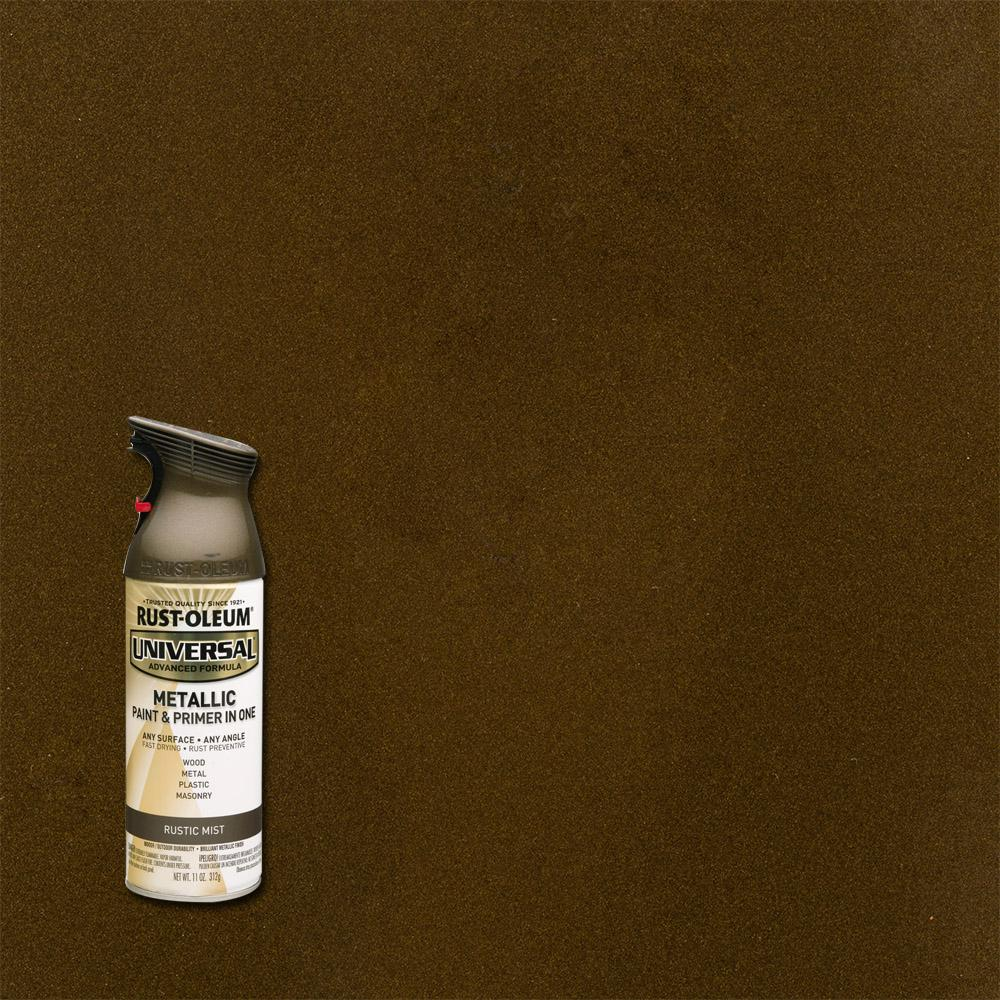 11 oz. All Surface Metallic Rustic Mist Spray Paint and primer