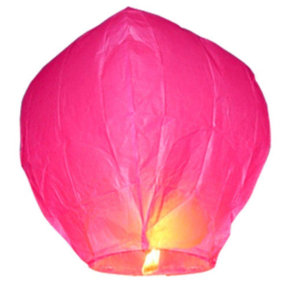 Hot Pink Sky Lanterns (Set of 4)