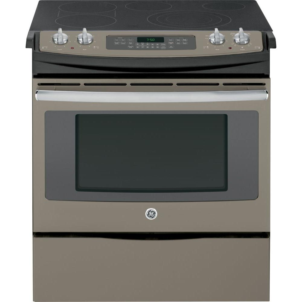 4.4 cu. ft. Slide-In Electric Range with Self-Cleaning Convection Oven in
