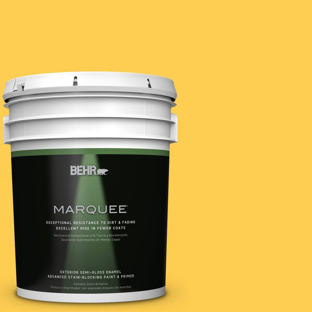 BEHR MARQUEE 5 gal. #T16-05 Canary Diamond Semi-Gloss Enamel Exterior