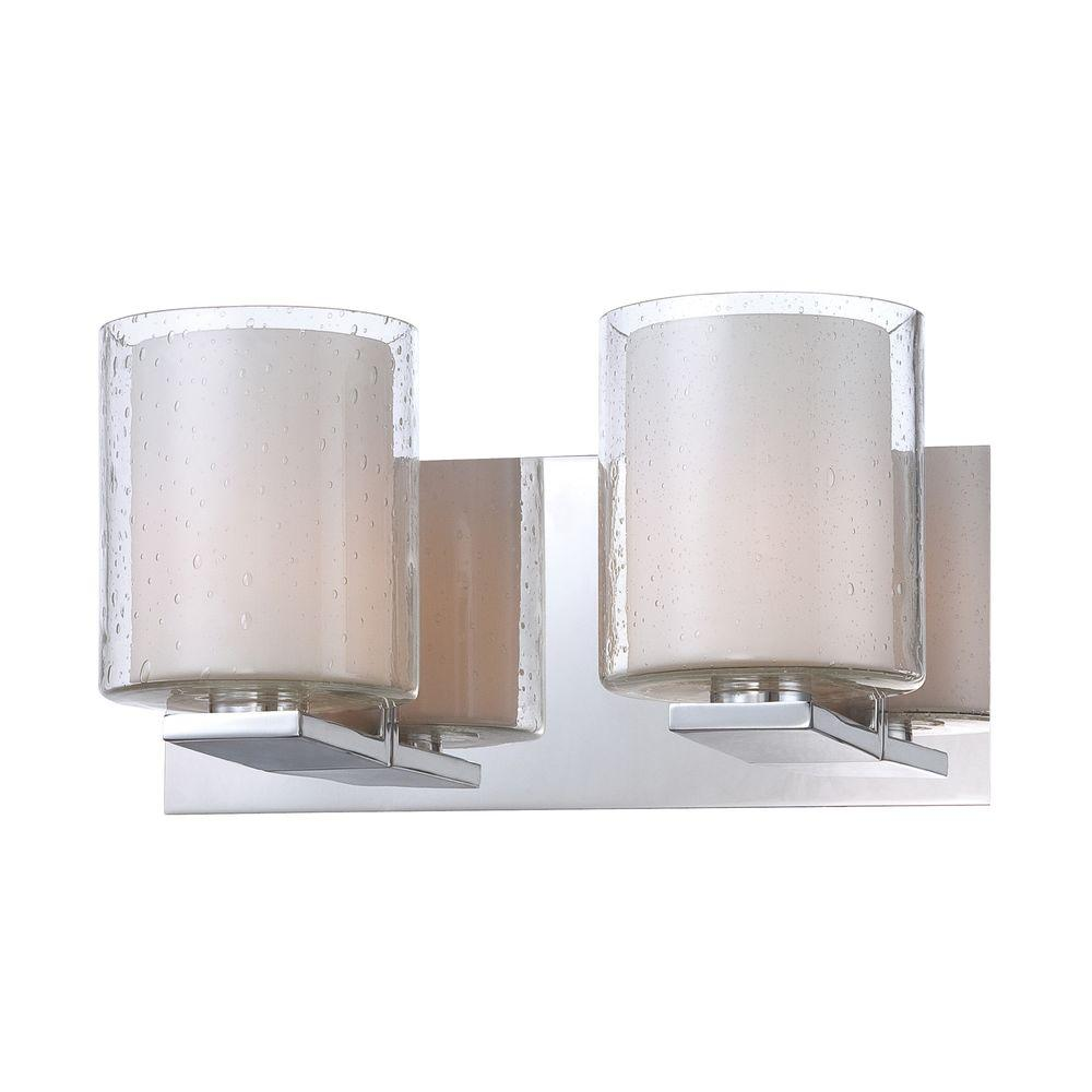 Vanity Light Clear Glass : Rondell 4-Light Chrome Vanity Light with Clear Crystal Glass-TN-92334 - The Home Depot