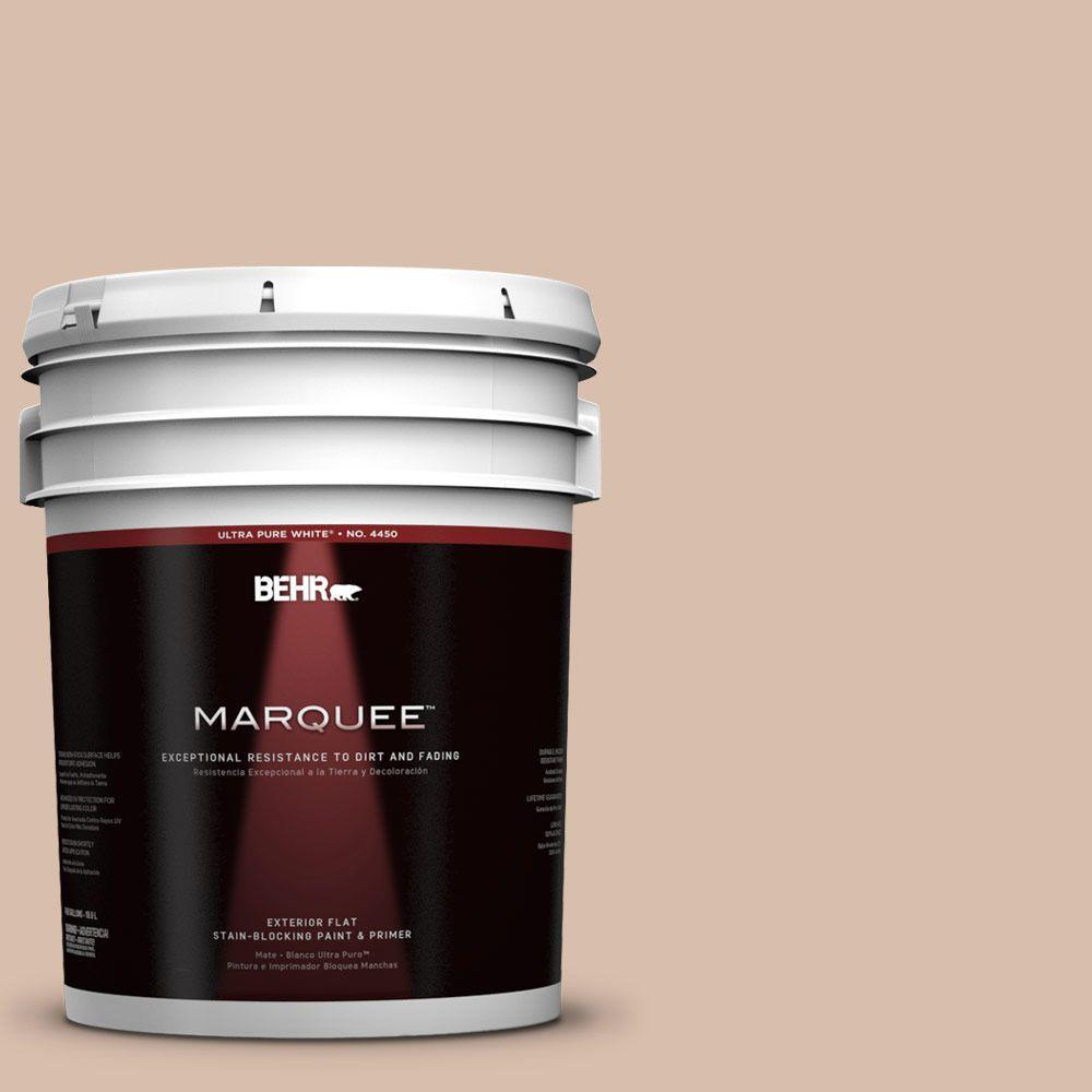 BEHR MARQUEE 5-gal. #250E-3 Wild Porcini Flat Exterior Paint-445005 - The