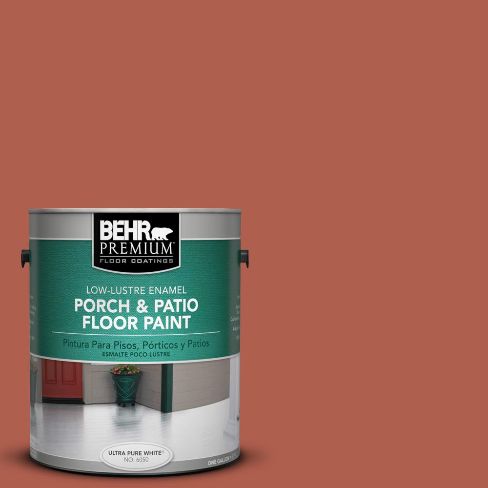 1 gal. #BIC-46 Clay Red Low-Lustre Porch and Patio Floor Paint