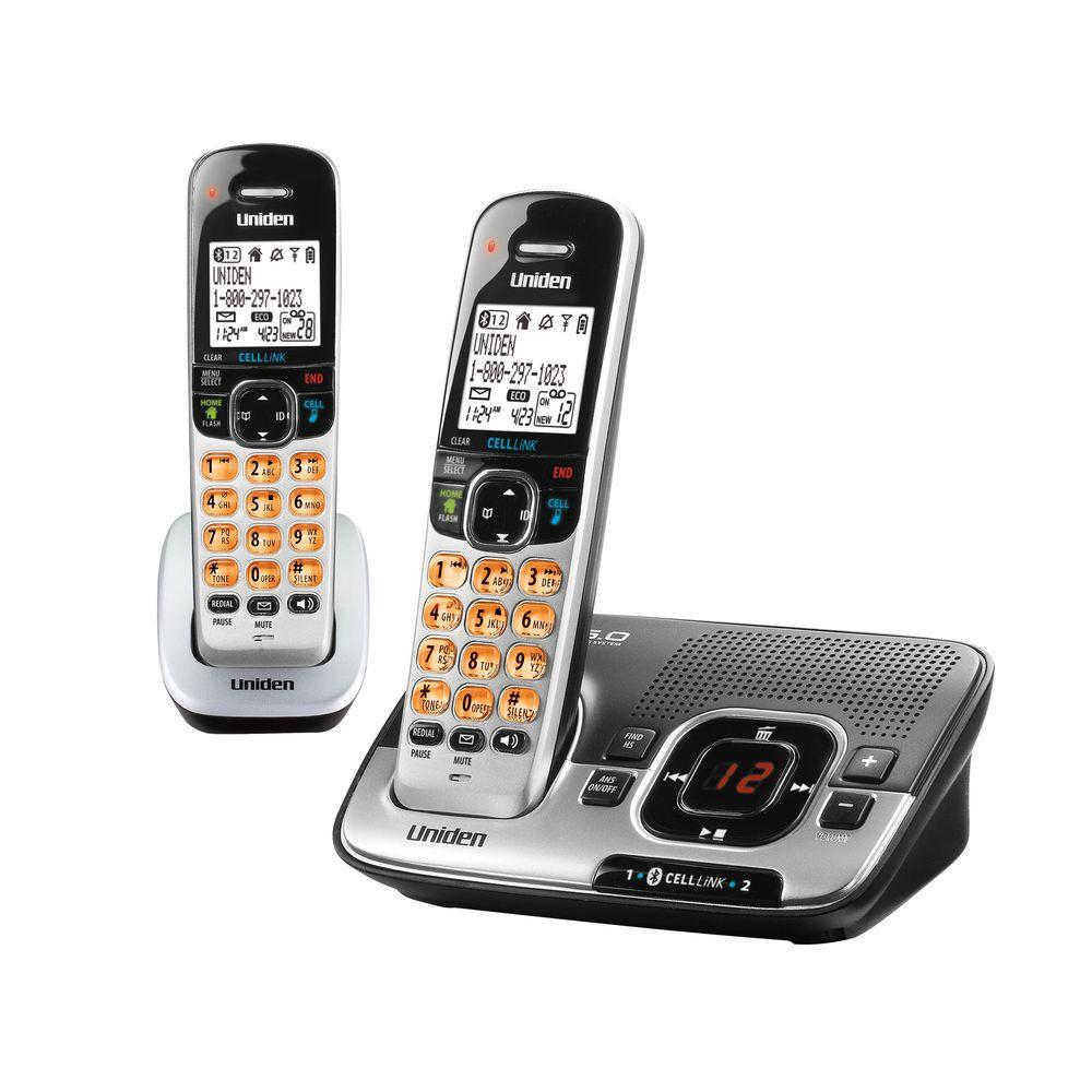 Uniden DECT 6.0 Cordless Phone with 2 Handsets and Bluetooth CELLLiNK-DISCONTINUED