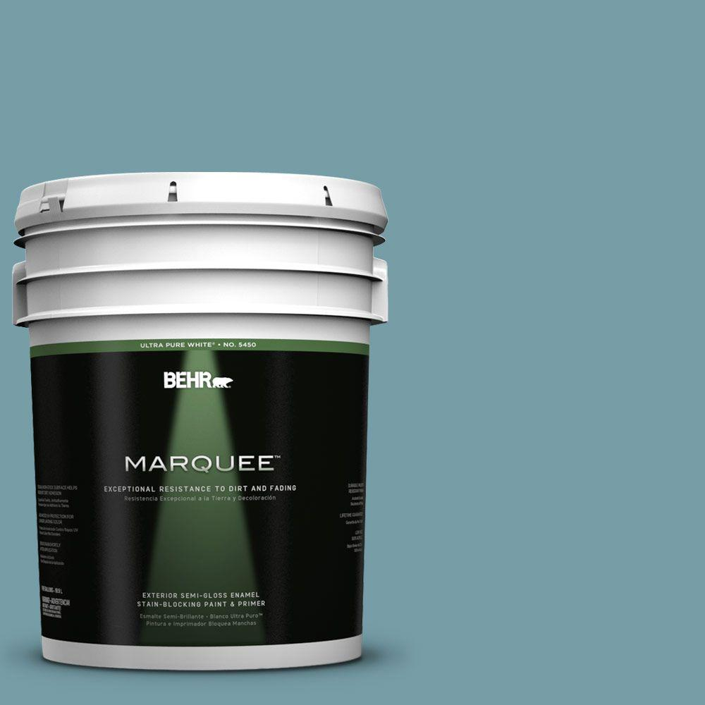 Interior Paint, Exterior Paint & Paint Samples: BEHR MARQUEE Paint 5-gal. #PPU13-7 Voyage Semi-Gloss Enamel Exterior Paint 545405