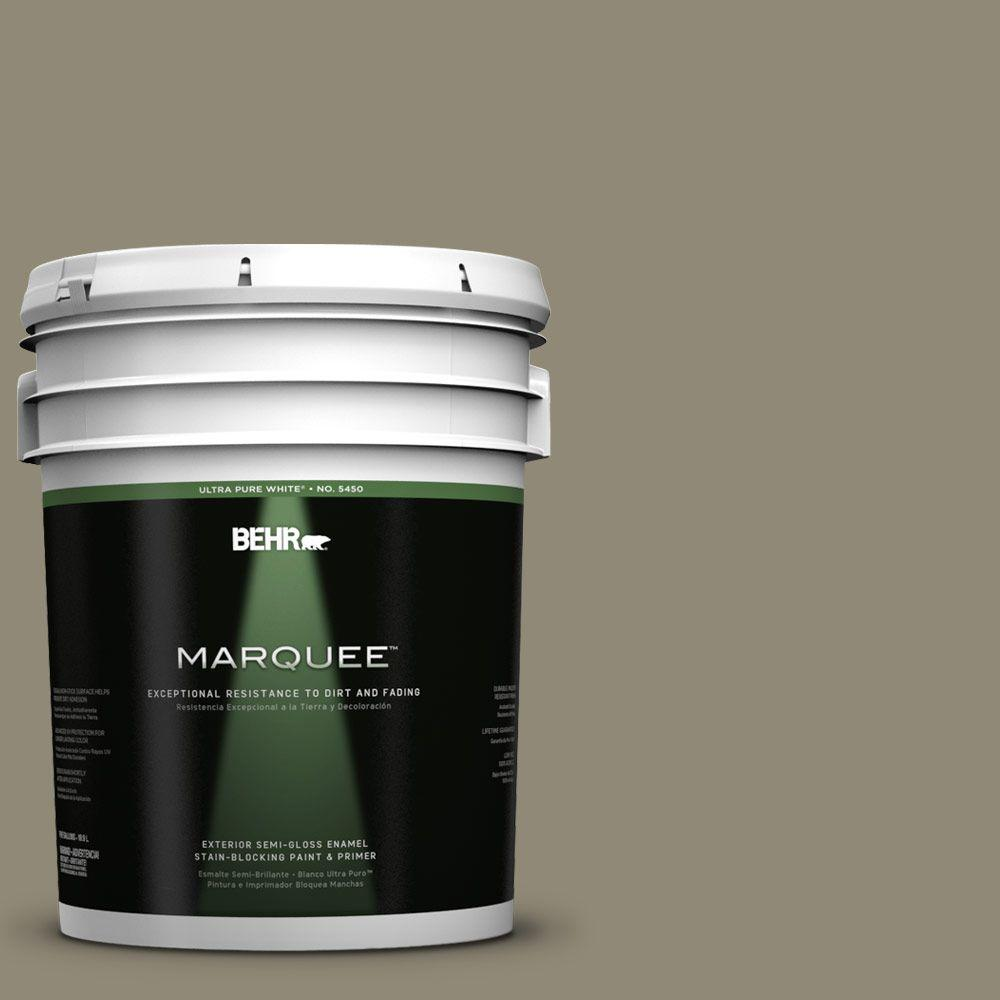 BEHR MARQUEE 5-gal. #780D-6 Witch Hazel Semi-Gloss Enamel Exterior Paint