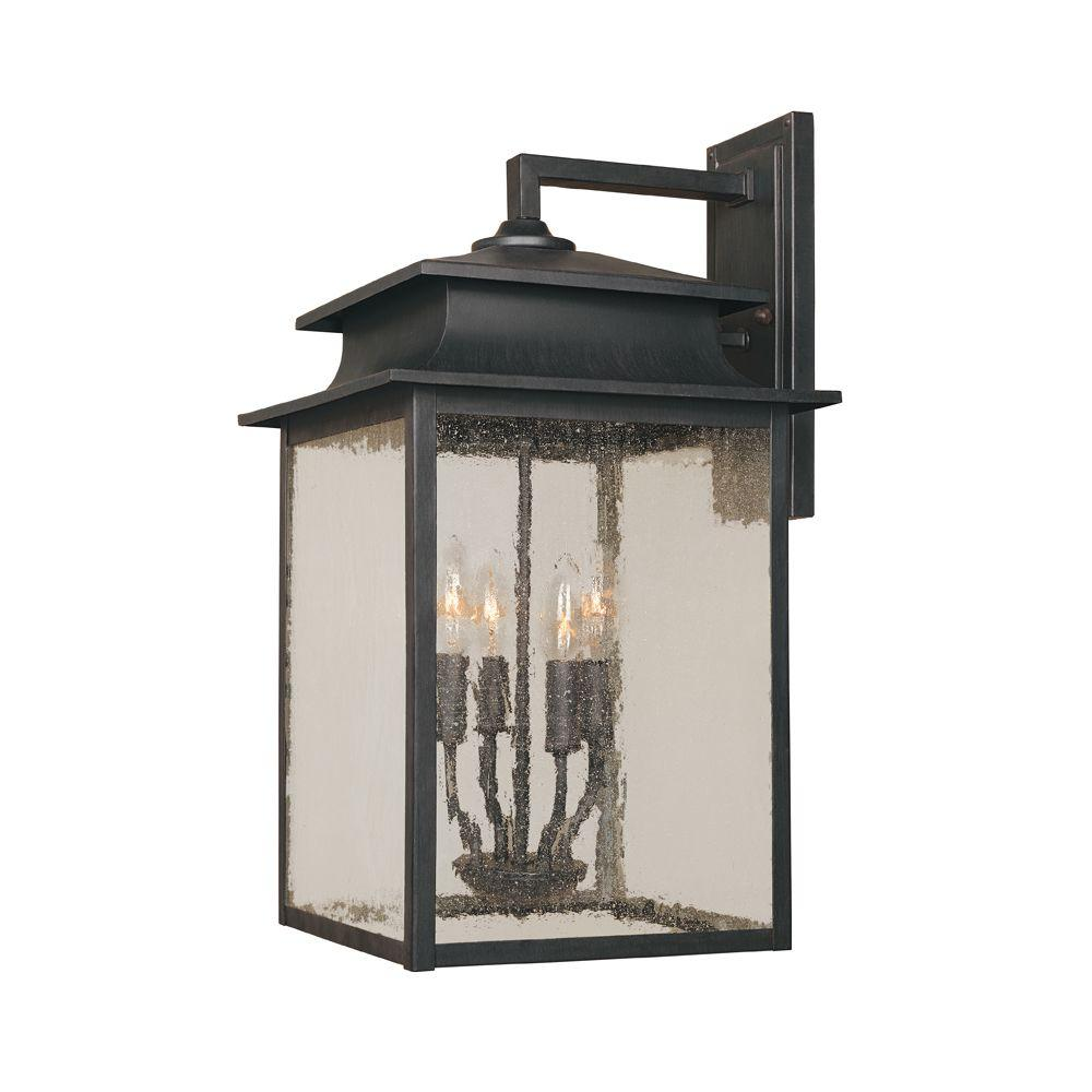 World Imports Sutton Collection 4 Light Rust Outdoor Sconce