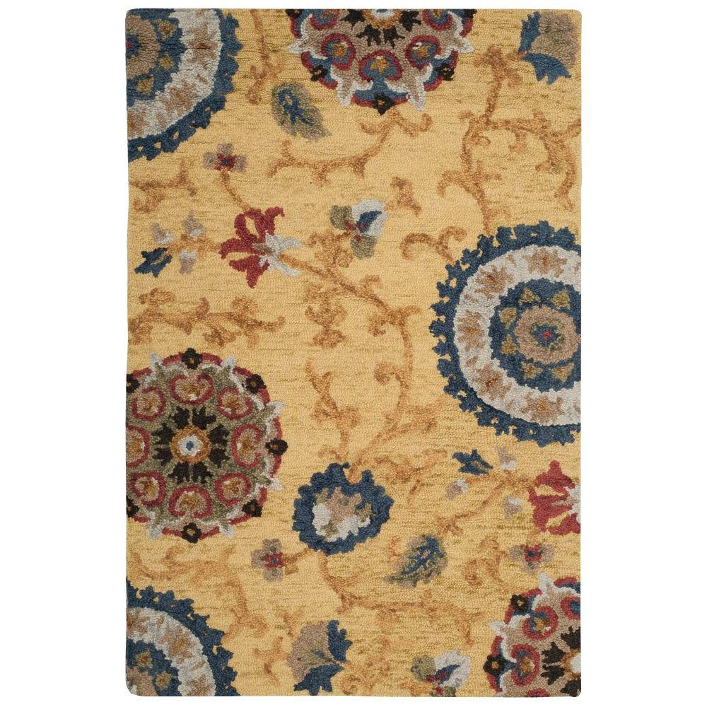 Blossom Gold/Multi 4 ft. x 6 ft. Area Rug