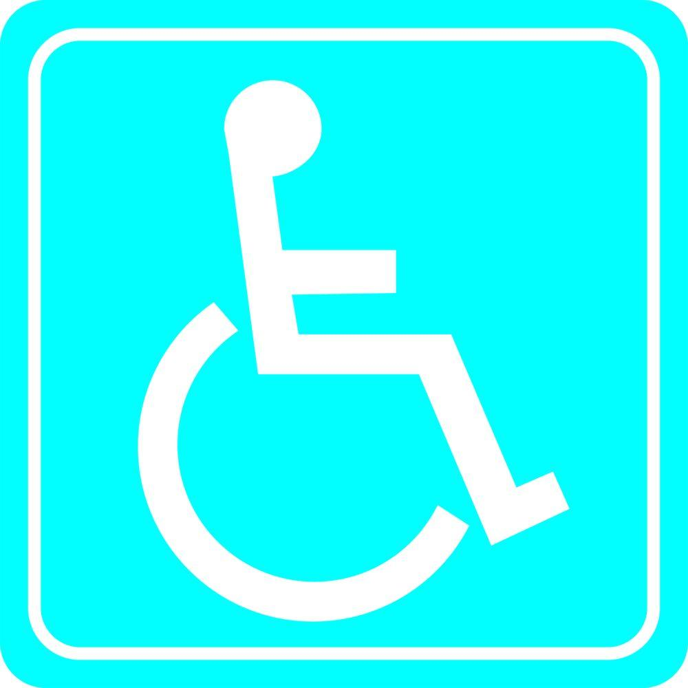 Brady 12 in. x 12 in. Aluminum Handicapped Sign