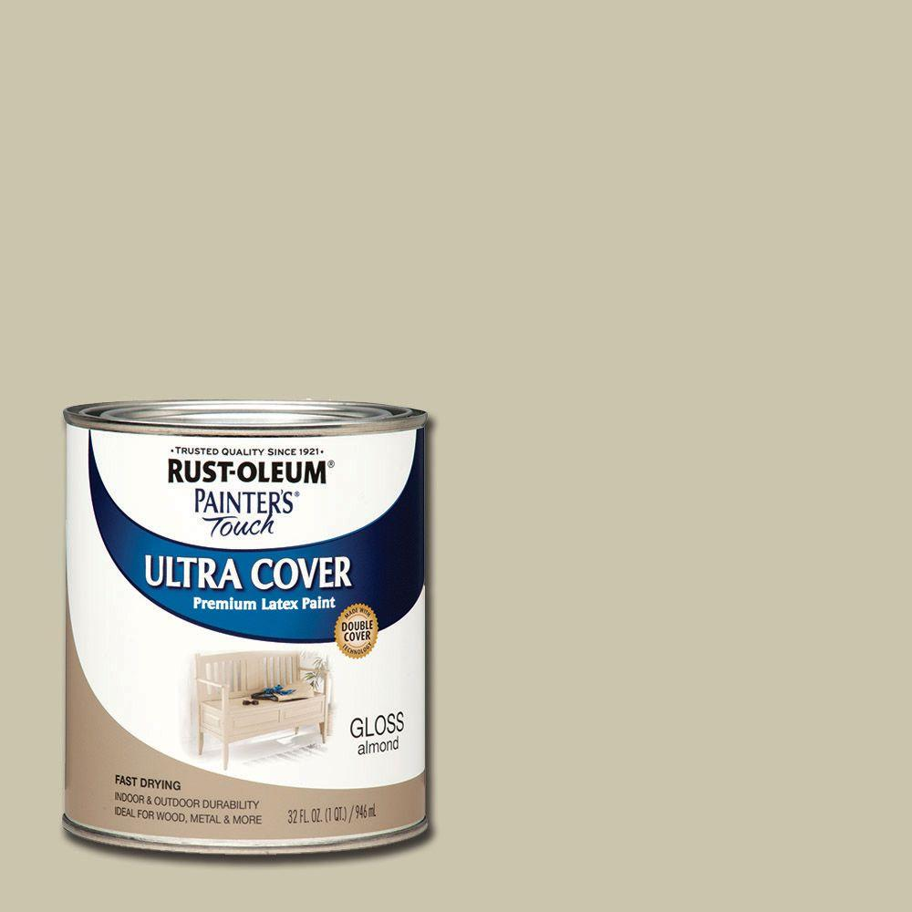 Rust-Oleum Painter's Touch 32 oz. Ultra Cover Gloss Almond General Purpose Paint (Case of 2)